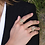 Thumbnail: Yellow Silver Serpentine Statement Ring