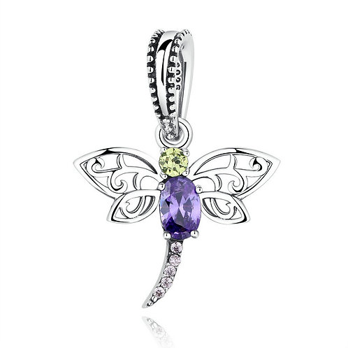 Dragonfly, Silver Charm Pendant