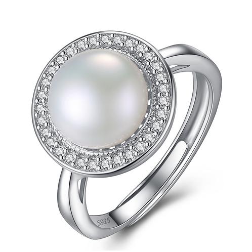 Elegance 9mm Round Cut Half Pearl,