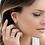 Thumbnail: Meteorites Rose Stud Earrings With Pearls