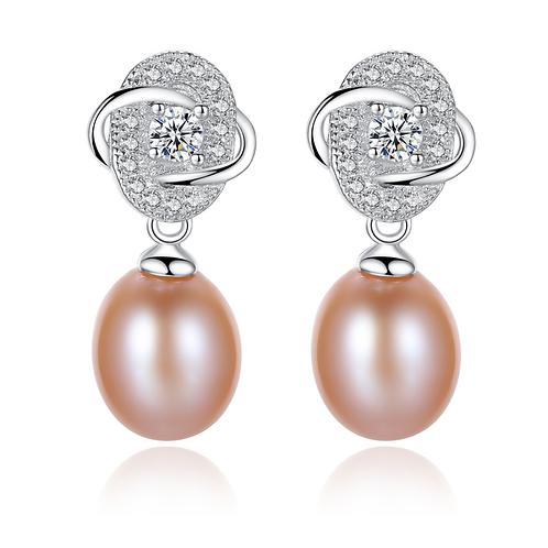 Luminous Elegance Color Pearl Drop Earrings