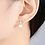 Thumbnail: Yellow Gold Plated Crown Pearl Earrings