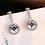 Thumbnail: Vintage Allure Drop Earrings, Clear CZ