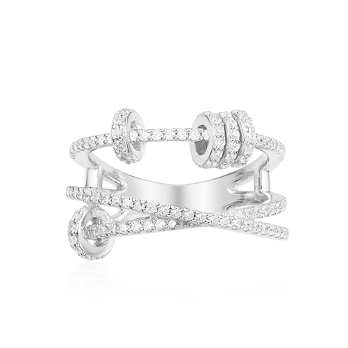Multi-Layer Sliding Silver Ring