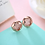 Thumbnail: Rose Gold Sterling Fashion Round Stud Earrings III