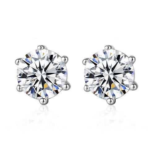 Classic 5mm Heads & Arrows Diamond Earrings