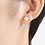 Thumbnail: White Pearl Butterfly Drop Earrings
