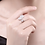 Thumbnail: Dazzling Disc Sterling Silver Ring