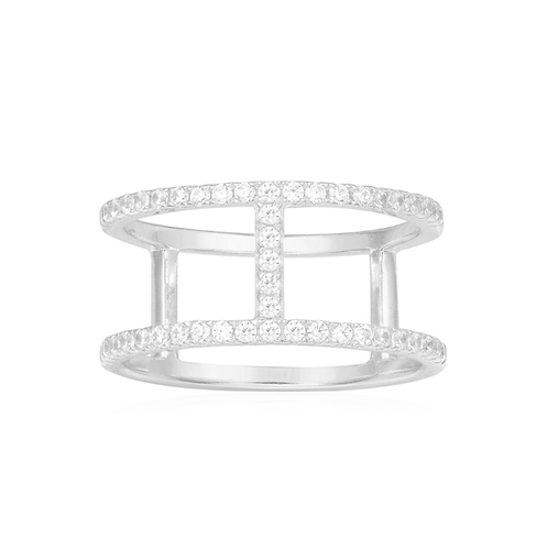 Two-Layers Silver Ring