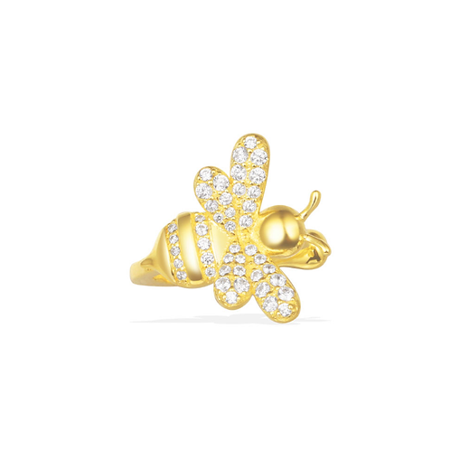 Mono Yellow Silver Bumble Bee Ear Jacket