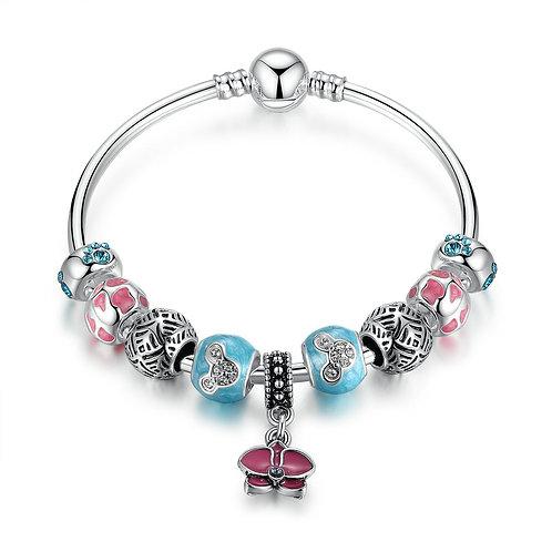 Hot Pink Daisy, Lively Bracelet
