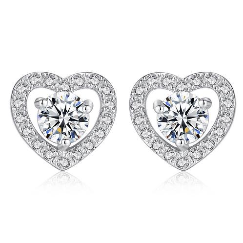 Forever Love Halo Heart Earrings