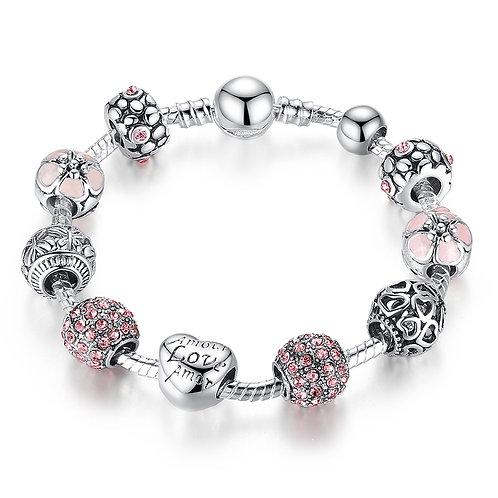 Forever Love Pave Charm Bracelet