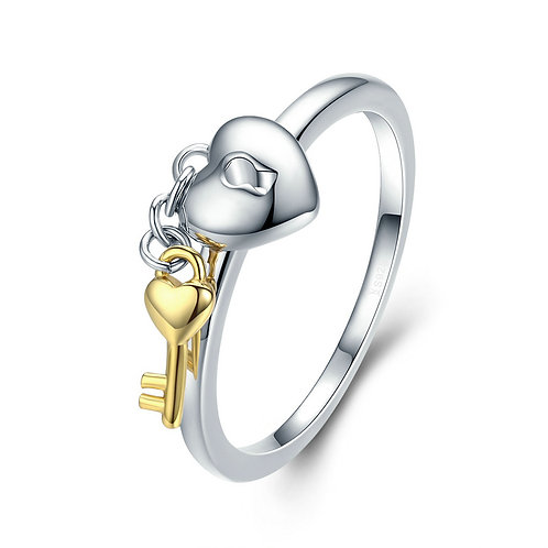 The Key to My Heart Sterling Silver Ring