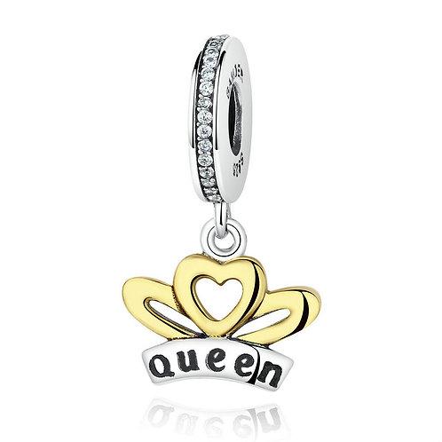 """You are my Queen"" , Silver Pendan"