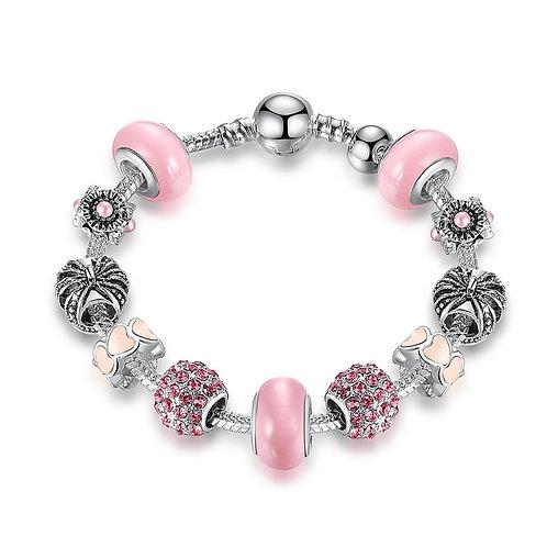 Pink Queen Charm Bracelet