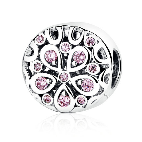Pink Cherry Blossom, Silver Charm