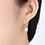 Thumbnail: Bridal White Pearl Earrings, white gold plated sterling silver