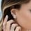Thumbnail: Mono Meteorites Stud Earring With Pearl