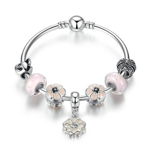 Pink Cherry Blossom Bracelet
