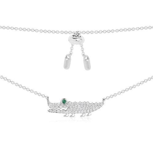 Silver Croco Necklace