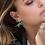 Thumbnail: Green T-Rexy Asymmetric Yellow Silver Earring