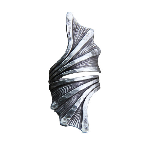 Boho Chunky Silver Ring