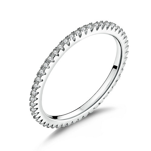 Classic Engagement Ring, Top & Bottom Smooth Finish Prong, Unique Technic
