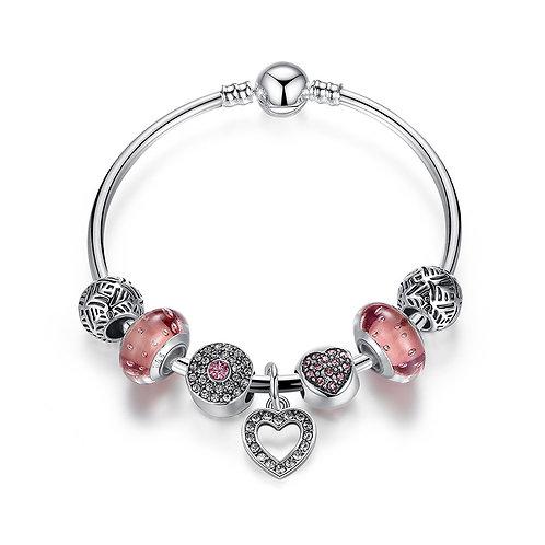 Concise Heart Charm Bracelet