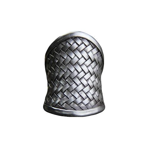 Boho Chunky Weave Silver Ring