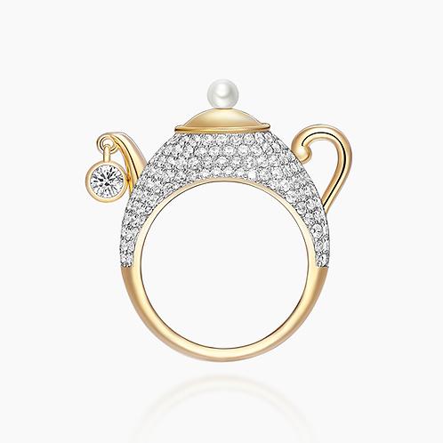 Wonderland Teapot Ring
