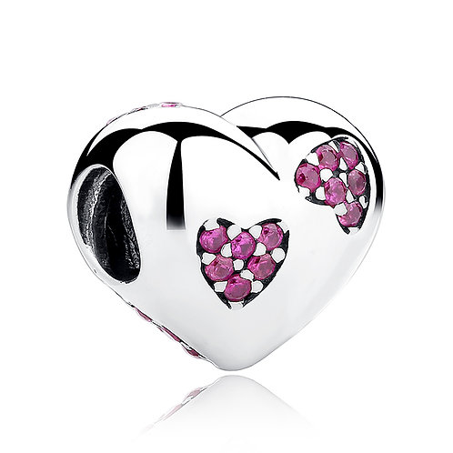 Two Love Hearts, Silver Charm