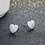 Thumbnail: Halo Heart Sterling Silver Earring Studs