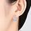 Thumbnail: Hearts & Arrows Pave Set Halo Drop Earrings