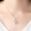Thumbnail: Infinity Heart Necklace, 18k White Gold Sterling Sliver, Clear CZ