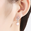 Thumbnail: Sterling Pony Color Pearl Earrings white gold plated sterling silver