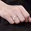 Thumbnail: Dazzling Daisy Pearl Platinum Plated Sterling Silver Ring