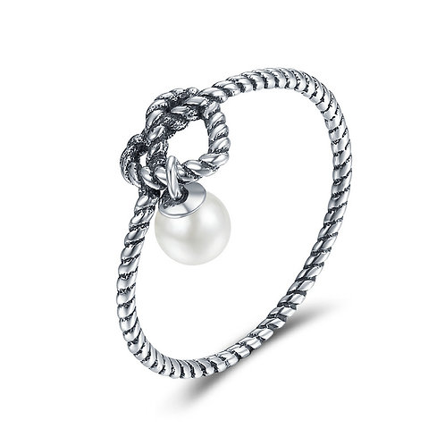 Pearl Knots in My Heart, Sterling Silver Ring