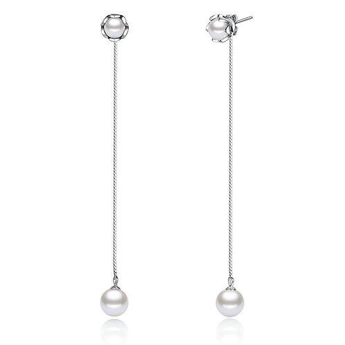 Floral Pearl Dangles Earrings