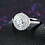 Thumbnail: Elegance Dazzling Disc, Clear CZ