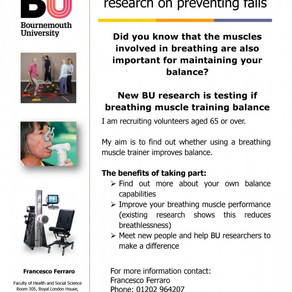 We need your help with novel research for preventing falls