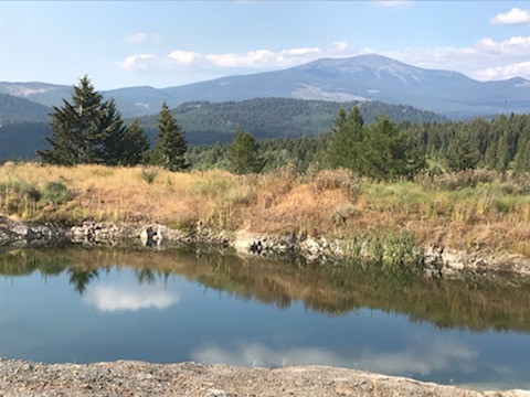 Local quary with Mt. Baldy in the background