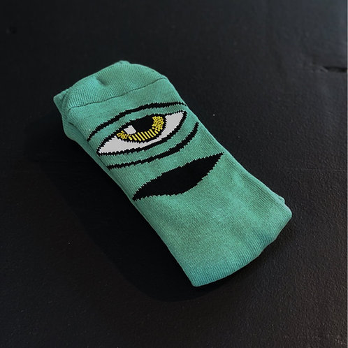 Toy Machine Sect Eye sage green socks