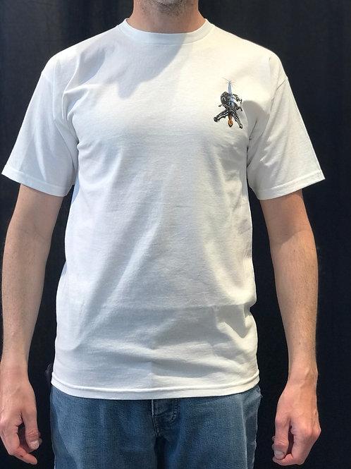 Powell Peralta Skull & Sword White T-Shirt