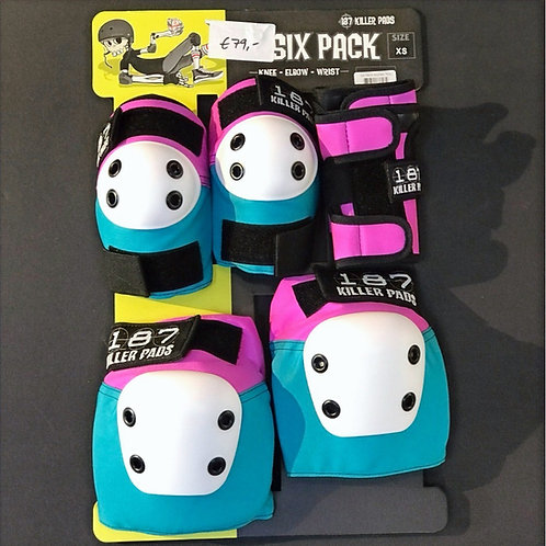 XS 187 Killer Pads 6 Pack coloured