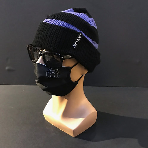 Santa Cruz Beanie Purple /Black stripes