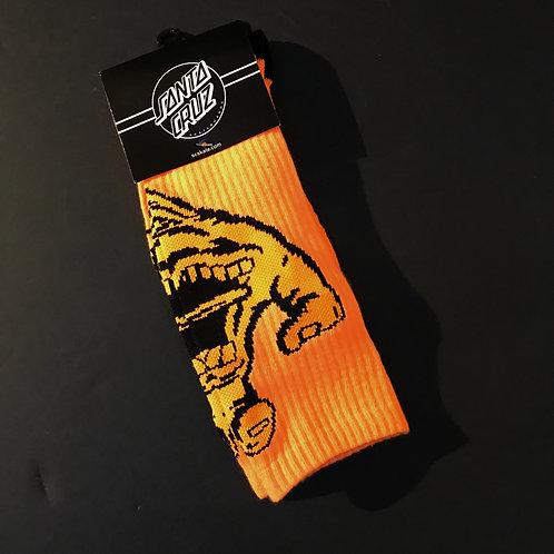 Santa Cruz Screaming Hand Socks Orange