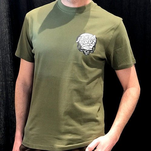 Santa Cruz O'Brien Skull Tee Army Green