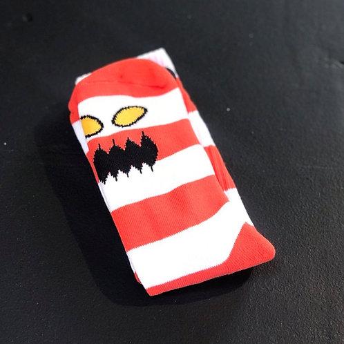 Toy Machine Monster Orange Stripes socks