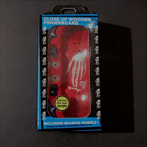 Close Up Wooden Fingerboard Red